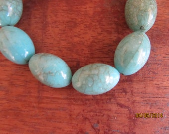 "faux turquoise stretch bracelet 7 1/2"""