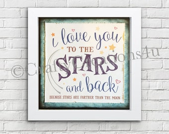 Love you to the Stars and back SVG