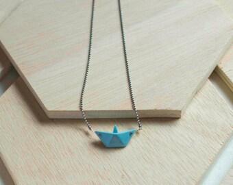 Porcelain origami boat