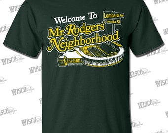 Mr. Rodgers' Neighborhood T-SHIRT, Green Bay Packers Quarterback Aaron Rodgers #12 fans will love this T-SHIRT