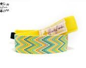 Nonslip Headband Yellow Shimmy Chevron