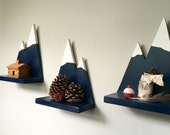 Set of 3 Small Mountain Wall Shelf