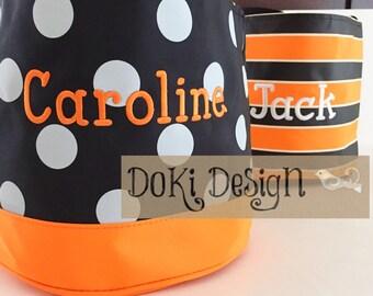 Monogrammed/Personalized Halloween Trick or Treat Bucket