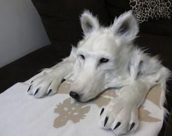 Wolf Headdress [animal friendly, faux fur]
