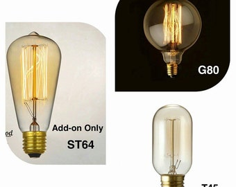 Order Add-On Only Vintage Style Edison Squirrel Cage Light Bulb Edison Bulbs for Industrial Lighting