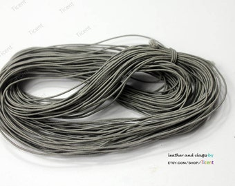 50 Yards 1mm Gray Elastic String, 1mm Stretch Cords ES2537