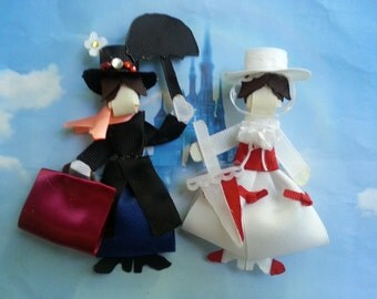 Mary Poppins Inspired Ribbon Sculpture Hair Clip