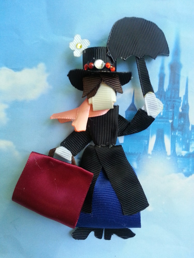 Mary Poppins Inspired Ribbon Sculpture Hair By Siennasbowtique