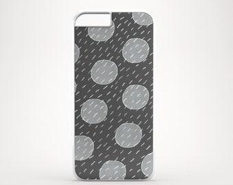 Grey dot iPhone 6 case, Graphite iPhone 5s case, Polka dot iPhone 5C case, iPhone 4 case
