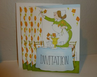Vintage Set of Party Invitations