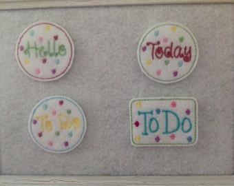 Planner Feltie, Hello Feltie, Today Feltie, To Do Feltie 2 shapes