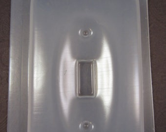 Single Light Switch Plate Cover Resin Mold for Crafting