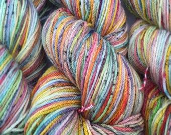 Rainbow sherbet - dyed to order- superwash merino 100g 425 meters