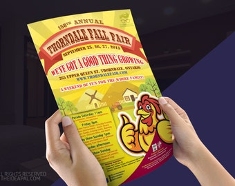 Flyer design - Poster design - Leaflet design - Banner /  X-Banner Design - A1 - A4 - A5 (or custom ) - Print Ready - High Resolution