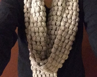 crochet puff stiched scarves