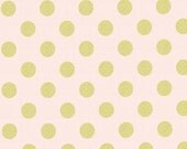 Metallic Polka Dot Fabric - Quarter Dot Pearlized in Confection by Michael Miller Fabrics - 1/2 Yard