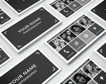 Business Card Template 015 for Photoshop - Print Ready - 3.5 × 2 in