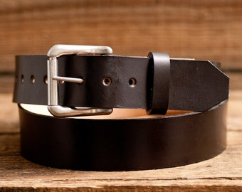 Leather Belt, Full Grain Leather Belt, Black Leather Belt, Mens Leather Belt, Womens Leather Belt