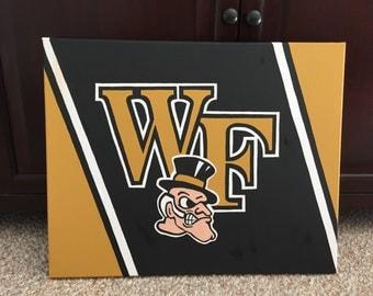 Custom College Football Team Logo Painting