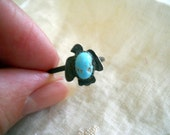 Sale! Vintage Repurposed Native Jewelry Turquoise Thunderbird Ring Size 7 1/2