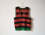 Vintage crocheted ethnic style vest