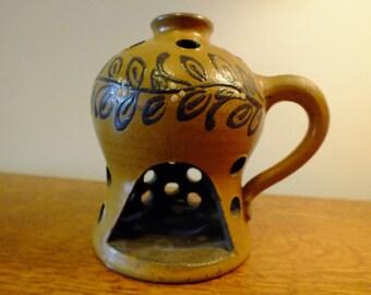 Signed original studio Art Pottery Luminary Night Lantern - Stoneware