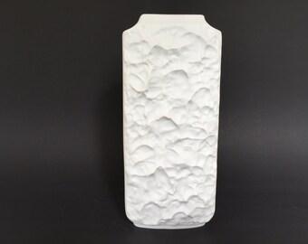 Seltmann Weiden Bavaria Op Art bisque porcelain 926 Vase  West Germany 1960s Mid Century Modern.