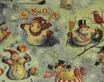 Christmas snowman/snowpeople christmas scene