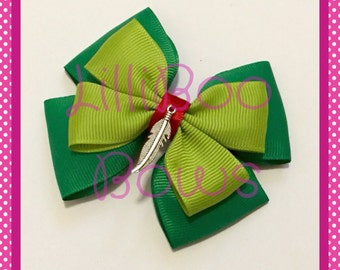 Handmade Peter Pan Inspired Hair Bow