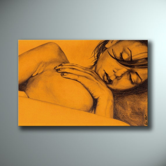 Nude female pencil drawings-9716