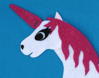 Pin the Horn on the Unicorn Re-usable Felt Party Game
