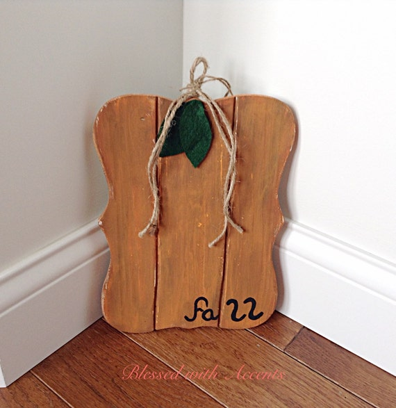 CLEARANCE Primitive pumpkin fall decor by BlessedwithAccents