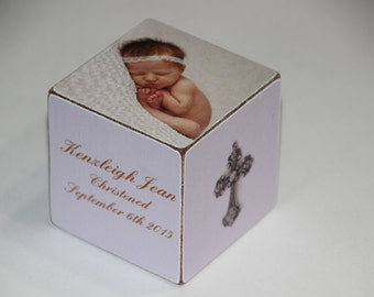 Personalized Baptism Baby's  Block -Personalized Baby Dedication Gift- Baby Personalized Christening Gift