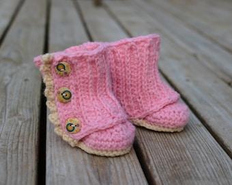 Crochet Baby Booties, Crochet Ruffle Booties, Wrap Booties, Crochet Ugg Boots, Booties Baby Girl, Crochet Baby Girl Booties