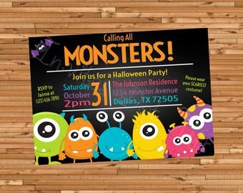Monsters Halloween Invitation