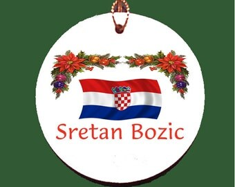 Croatian Christmas Porcelain Ornament