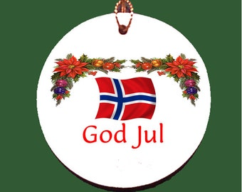 Norway Christmas Porcelain Ornament