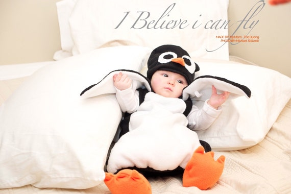 Baby Penguin Costume - Penguin Costume - Kid's Costume - Child's Halloween Costume - Infant Halloween Costume - Baby Halloween Costume