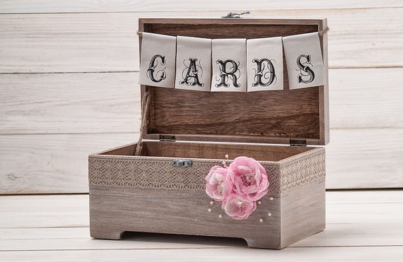 Rustic Wedding Gift Card Holder : Cards Box Rustic Wood Card Holder Wedding Card Chest Wedding Card Gift ...