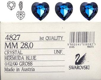Swarovski 4827 28mm Bermuda Blue.  Price is for 1 stone