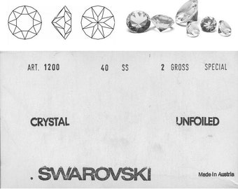 Swarovski 1200 SS40 scatter crystals 8.4 mm.  Price is for 10 stones