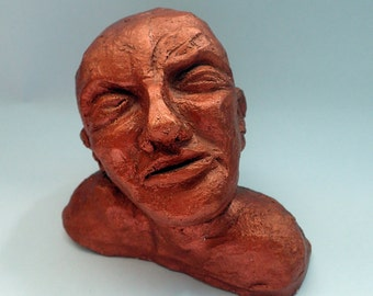 Ceramic head sculpture