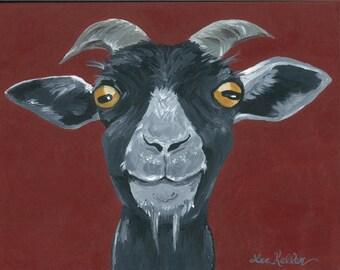Goat art, goat decor.  Goat print from original canvas painting, Goat prints, goat art prints