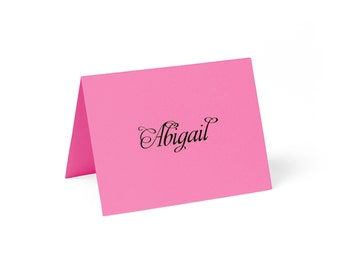 Place Cards, Hot Pink with Custom Printing // set of 8