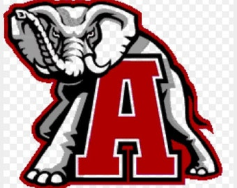 University of Alabama window decal  Roll Tide Bama sticker elephant crimson tide