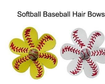 Softball and baseball leather flower hair clips, scarf, flip flops, sports, fan