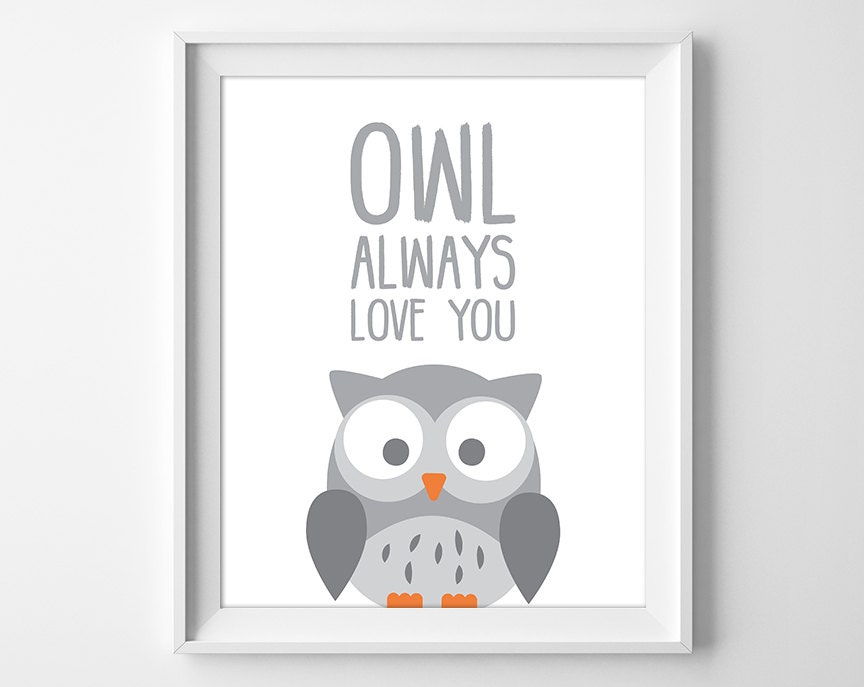 Owl Always Love You I'll Always Love You Nursery Print