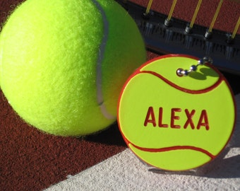 Tennis Gifts / Personalized Tennis Gifts / Tennis Bag Tags / Free Shipping / Free Engraving