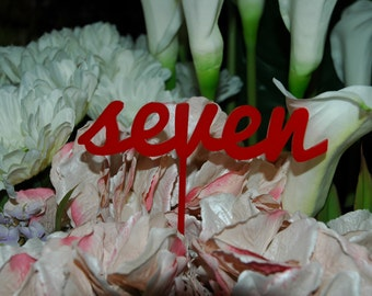 Acrylic Wedding table numbers, Engagement table numbers, table numbers, colour