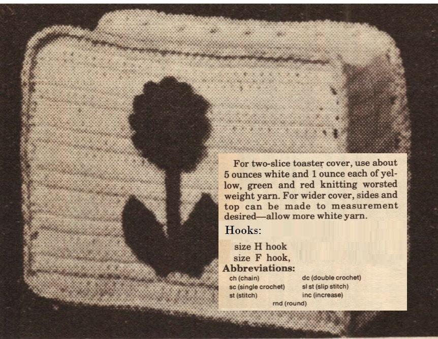 Crochet toaster cover pattern vintage 70s crochet home - Crochet mural vintage ...